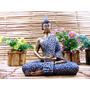 Buda Hindu Tailandes Decoração Felicidade Resina Estatua