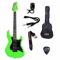 Kit Guitarra Strinberg Strato Egs267vd Afinador + Acessórios