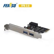 Placa  Usb 3.0 Feasso Jpu-03 Pci Express Low Profile