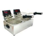 Fritadeira  Industrial Cotherm 2c 5 L Frita Fácil Prata 220v