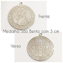 Medalha São Bento Aço Inox Grande