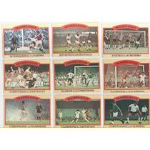 Lote: Futebol Cards Ping Pong Grandes Jogos, 9 Figurinhas C1