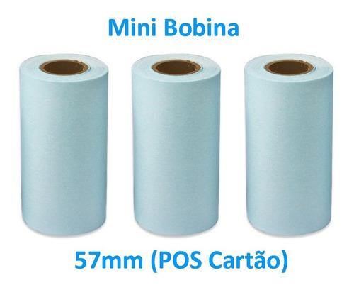 100 Bobina Térmica 57mm 57x18 Para Impressora Maquininha Pos
