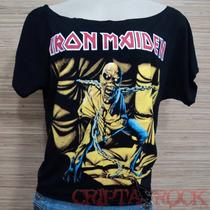 Blusa Gola Canoa Banda Rock Iron Maiden Frete Grátis