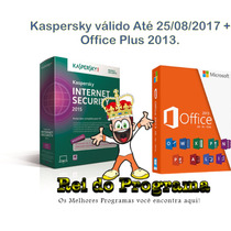 Kaspersky Internet Security Válido Até 2017 + Office 2013