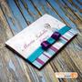 50 Convites De Aniversário Tema Frozen, Azul E Roxo Com Laço