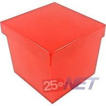 30 Caixinhas 5x5x4 Tampa Presente Cores Solidas