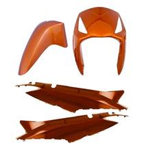 Kit Plastico Carenagem P/ Biz +125 Ano 2006 Laranja Metálico