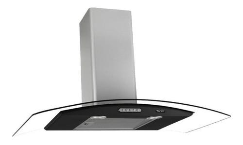 Exaustor Depurador De Cozinha Terim Vidro Curvo Aço Inoxidável De Parede 75cm X 5cm X 45cm Inox/preto 220v