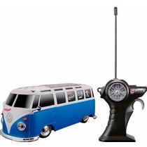 Kombi Van Volkswagen Carrinho De Controle 1:24 Brinquedo