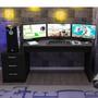 Mesa Para Computador Desk Game Drx 6000 Preto Cd