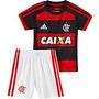Conjunto Bebe Flamengo Adidas Rubro Negro 2014 Caixa