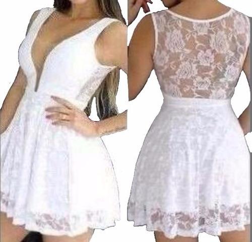 3c2031933 Vestidos Renda Curto Festa Balada Casamento Rodado #vc7 Amo à venda ...