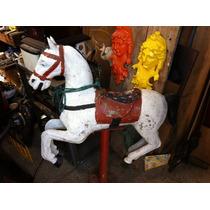 Cavalo De Parque Em Aluminio Anos 60