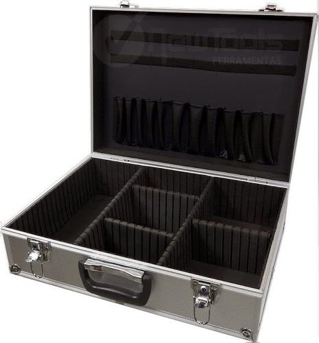 Maleta Aluminio Case Reforçada 46x35x16cm Divisórias Móveis