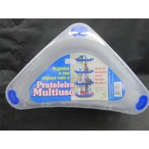 Prateleira Plastica Multiuso Triangular Transparente