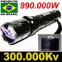 Lanterna De Choque Led Tatica 990.000w Taser Melho Que X900