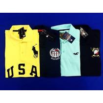 Kit 5 Camisas Masculina Baratas Polo Abercrombie Hollister