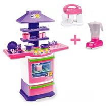 Mini Cozinha Infantil Fogão Batedeira E Liquidificador