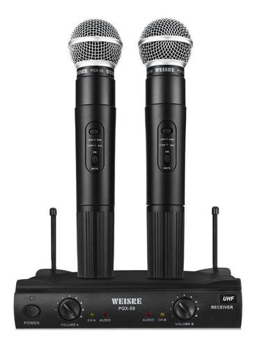 Kit De Microfones Weisre Pgx-58 Dinâmico Preto