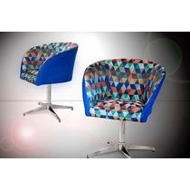 Cadeira Poltrona Giratória Ou Pés Palito Decorativa