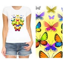 3 Camisas Beija Flor Borboleta F Sonhos Ftq9 Beij2 Borb29