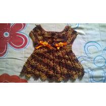 Vestido Em Crochê Para Newborn Até Dois Meses