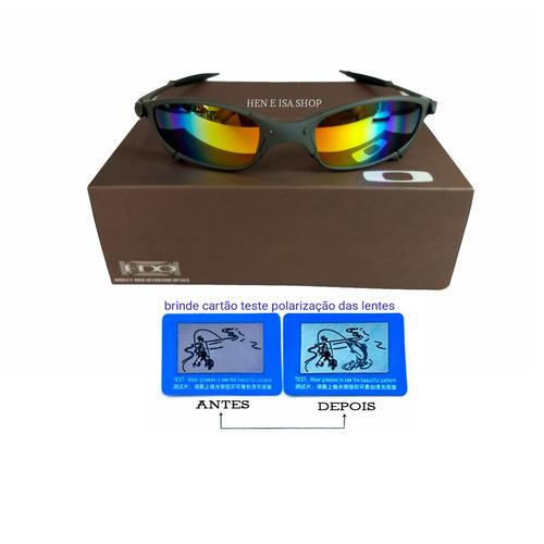 5bcfa3457063e Oculos Oakley Juliet X-metal Arco-íris + Teste+certificado. R  85