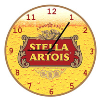 Relógio Parede-retrô-vintage-cerveja-churrasco-stella Artois
