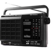 Radio Motobras Portatil 12 Faixas C/usb E Sd Card - Rm-pf