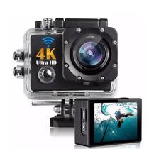 Action Câmera Go Sport Wi-fi 4k 1080p Prova D'água + Nf