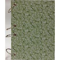 Caderno Pequeno Argolado Fichário Floral Verde4 170x230 192f