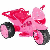 Moto Elétrica Infantil Tr1002sb Pink Star 6v-4ah 20w 2,5 Km/