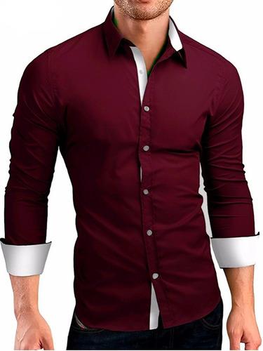 404b23559e Kit 10 Camisa Social Masculina Slim Fit Tricoline Atacado à venda em São  Sebastião do Caí Rio Grande do Sul por apenas R  395