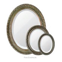 Espelho Oval Bizotado Com Moldura Retro Decoração Festas