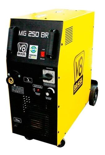 Máquina De Solda Mig 250 Amperes Mig 250br V8 Brasil 220v