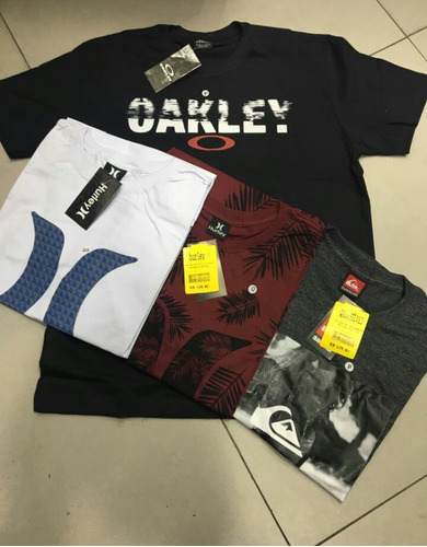 Kit 5 Camisetas Masculinas Manga Curta Camisa Algodão Barato. R  139 4f119a42d64ea