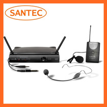 Microfone S/fio Lyco Uh01 Hli Headset E Lapela Uhf Santec