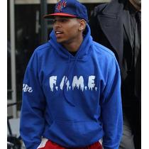 Camisa Chris Brown De Moleton Com Capuz F.a.m.e. Fretegratis
