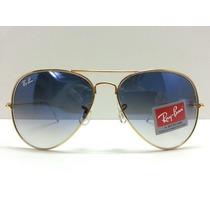 Óculos De Sol Ray-ban Aviador Azul Degrade 3024 3025 3026