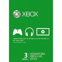Xbox Live Gold 3 Meses - Promoção!