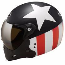 Capacete Moto Peels Mirage F21 American Star C/ 2 Viseiras
