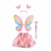 Fantasia P Carnaval Borboleta Fada Infantil De 3 A 8 Anos A1