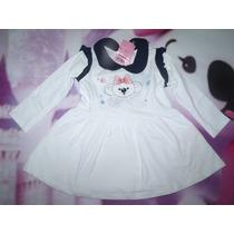 Vestido Manga Longa Lilica Ripilica Baby 3p - 20 Á 24 Meses