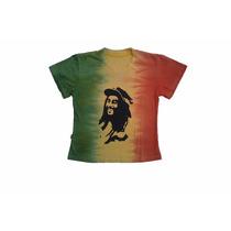 Baby Look Bob Marley Feminina Cor Do Reggae