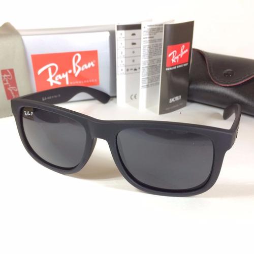 Óculos Quadrado Feminino Justin 4165 Preto Polarizado. R  79.6 6987fc5d46