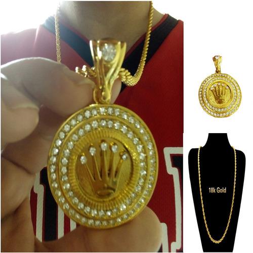 Colar Gangster Coroa King Hip Hop 2pac Cravejado De Diamante a5c6ccbca1