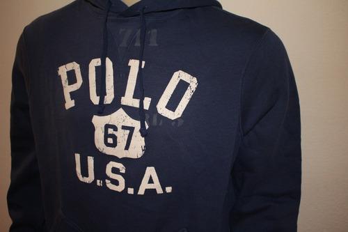 31256dfbff Moletom Masculino Polo Ralph Lauren Estampado Azul Marinho. Preço  R  229 95  Veja MercadoLibre