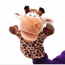 Marionete Fantoche De Mão Girafa De Pelúcia Brincadeira Bebe