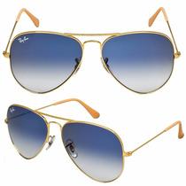 Óculos Rayban Ray Ban Original Azul Marrom Degrade Frete